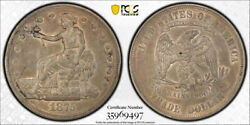 1875 T1 Trade Dollar Pcgs Au 50 About Uncirculated Key Date Tough Coin