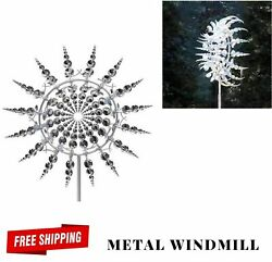 Unique Magical Metal Windmill Sculptures Move Wind Spinner Kinetic Lawn Décor