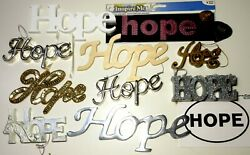 Lot Of 13 Hope Signs Spelled Out Wooden Metal Collector Items Trinkets Name Tag