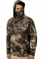 Menand039s Xxxl Pullover Hoodie Built In Face Gaiter Realtree Max-1xt New Tags