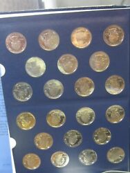 Proof State Quarters And America The Beautiful Proofs Complete Sets In One Book.