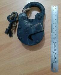 Lock Movie Prop Old Antique Look Fully Working With One Key Jail Padlock Pirate