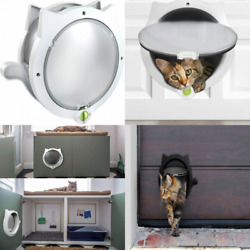 LYNX Cat Door for Pets – 4 Way Locking 5.9x7.5 Inch Pack of 1 Off white