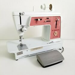 Singer Touch And Sew Special Zig Zag Model 626 Vintage Home Sewing Machine W/pedal