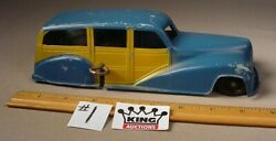 Vintage Metal Masters Co. Car Diecast Toy Woody Wagon Wind Up 8.5 Works Usa 1