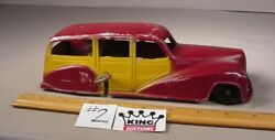 Vintage Metal Masters Co. Car Diecast Toy Woody Wagon Wind Up 8.5 Works Usa 2