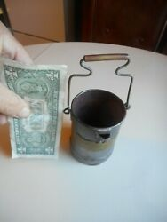 Small Antique Tin And Brass Handled Pouring Pail. Rebecca Downie 1891