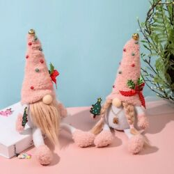 Gnome New Christmas Pink Rudolph Faceless Doll Man Old Ornaments Plush