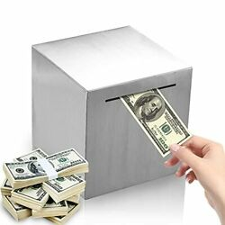Stainless Steel Piggy Bankno-outlet Safe Money Banks For Adults Or Kidschoose