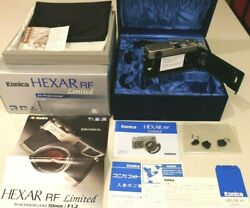 【 Unused In Box 】konica Hexar Rf Limited Edition Rangefinder Body From Japan