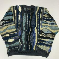 Vintage Coogi Sweater Wool Knitted Size Small Multicolor Made In Australia Black
