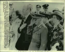 1975 Press Photo President And Mrs. Ford With Gen.and Mrs. Franco At Barajas Airport