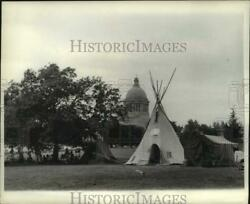 1969 Press Photo Native Americans Stage Demonstration In Olympia, Washington