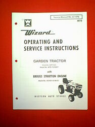 Wizard Mtd Garden Tractor Hydro Model Mtd 7525a27 Owner Service Parts Manual