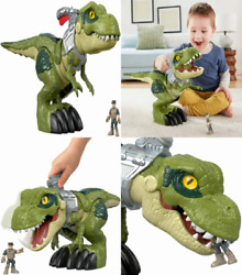 Fisher-price Imaginext Jurassic World Mega Mouth T-rex, Chomping Multicolor