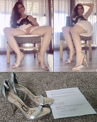 Christy Canyon Signed Worn/owned Shoes 6 Heels From Busty Xxx Adult Star Coa