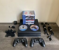 Sony Playstation 4 Ps4 Pro 1tb Console With 2 Controllers And 15 Games Cuh-7215b