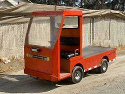 Used Taylor Dunn B2-48 Industrial Flatbed Electric Utility Cart New Batteries