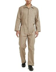 Toptie Menand039s Long Sleeve Coverall Snap And Zip-front Coverall