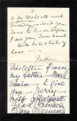 Samuel L. Mark Twain Clemens - Autograph Letter Signed With Co-signers