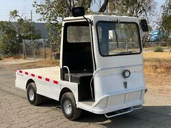 Used Taylor Dunn B2-48 Industrial Flatbed Electric Utility Cart