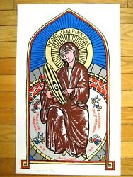 Pearl Jam 2000 Los Angeles San Diego Ames Bros Poster Print Rare Stained Glass