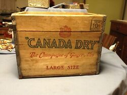 Rare Vintage 16 X 12 X 12 Canada Dry Large Size Wood Soda Crate Box