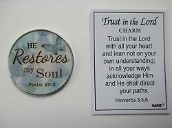 Af He Restores My Soul Trust In The Lord Pocket Token Charm Ganz Rehab Recovery