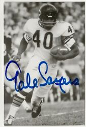 Gale Sayers Signed Postcard From Jim Rowe Inventory Bears Best Guarantee