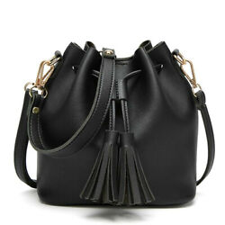 Women Bag Bucket Leather Shoulder Crossbody Coach Black And Brown Bags $25.99