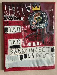 Jean-michel Basquiat Canvas Autographed Oil Painting There Are Details