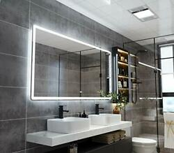 72x36 Inch Led Backlit Bathroom Mirror, Wall-mounted Vanity Mirrors With Lights