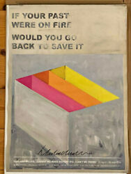 Harland Miller Signed Poster Very Rare In Good Condition