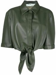 Off-white Womenand039s Green Leather Shirt