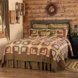 Country Primitive Rustic Tea Cabin Patchwork Quilt Collection