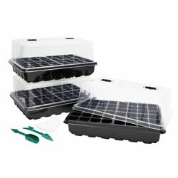 Plant Growing Trays With Humidity Dome Lid, 72 Cell Seed Starter Tray 3 Pack