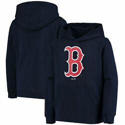 Boston Red Sox Youth Primary Team Logo Pullover Hoodie - Navy