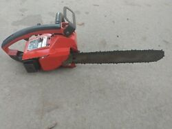 Vintage Used Homelite Super 2 Gas Chainsaw, With 16 Inch Bar Pulls Free