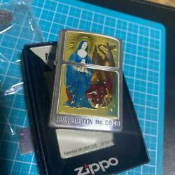 Zippo Vintage Limited Edition Angel And Devil Virgin Mary Christ Oil Lighter