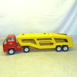 Vintage Tonka Cab Over Car Carrier Semi Truck, Pressed Steel Toy