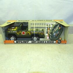 Vintage Nylint Army Search And Rescue Set Truck In Box Pressed Steel No. 660