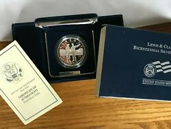 2004p Lewis And Clark Bicentennial Proof Silver Dollar With Box And Coa