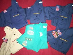 Cub Boy Girl Scout Shirt Boy Scouts Youth With Badges Medium And Small
