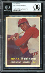 Frank Robinson Auto 1957 Topps Rc Vintage 1950and039s Signature Beckett 13022251