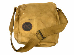 Ww1 British Made Us Aef Used Gas Mask Bag W/ 27th Infantry Div Painted Symbol