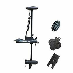 Aquos Haswing Black 12v55lbs 48inch Bow Mount Trolling Motor With Remote Cont...