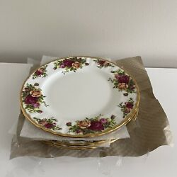 """Royal Albert Old Country Roses Salad Dessert Plate Set Of 6 8"""" Never Used Nwob 3"""