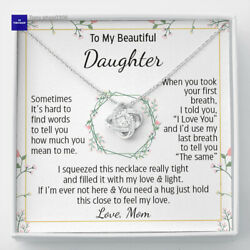 To My Daughter Necklace Gift For Daughter From Mom Daughter Mother Necklace