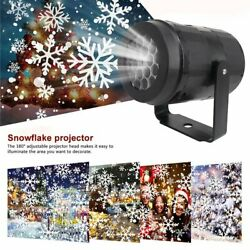 Outdoor Christmas Projector Lamp Led Moving Snowflake Laser Light Party Decor Us