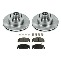 2-wheel Set Brake Disc And Pad Kits Front Driver And Passenger Side New For Chevy